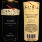 Review of Landon Winery's Dolcetto 2012