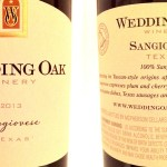 Review of Wedding Oak Winery Sangiovese 2013