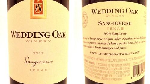Wedding Oak Sangiovese