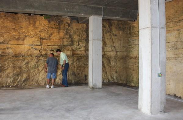 Barrel cellar at Hawk's Shadow Winery