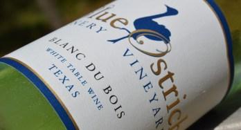 Blue Ostrich Blanc du Bois bottle