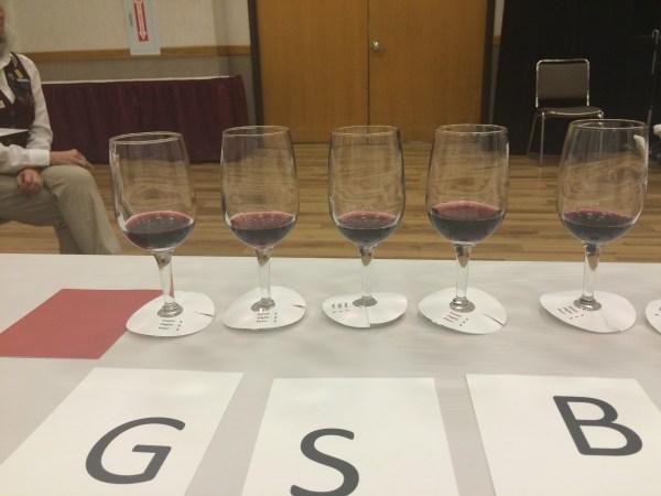 Judging a wine flight