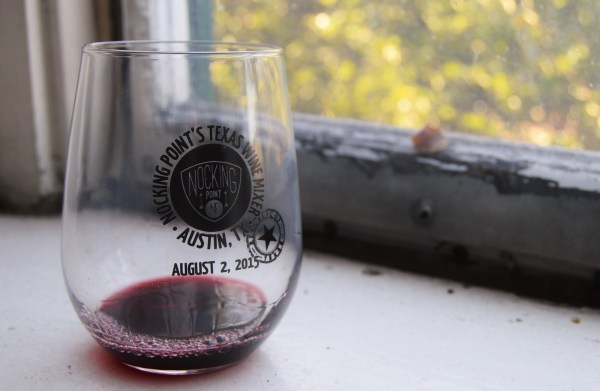 Nocking Point souvenir glass