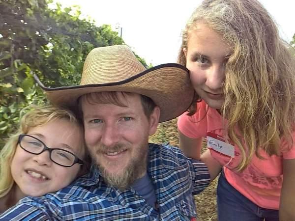 EJ and girls at Singing Water Vineyards