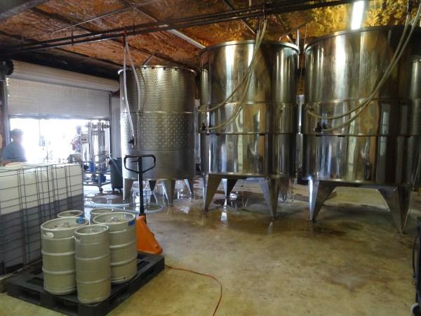 Driftwood Estate Winery tanks