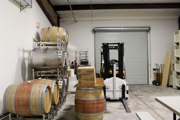 Bent Oak Winery barrels