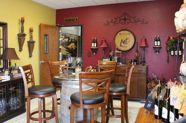 Bent Oak Winery tasting room