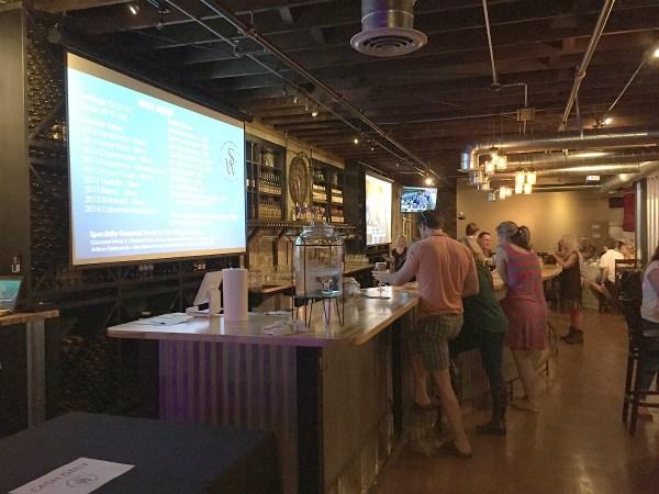 Sloan & Williams tasting bar