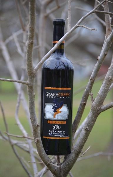 Grape Creek Vineyards Epiphany bottle