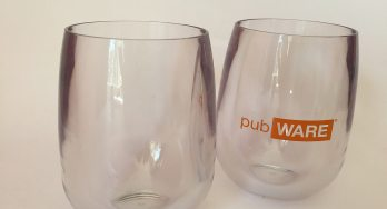 Stemless wine glass by pubWARE