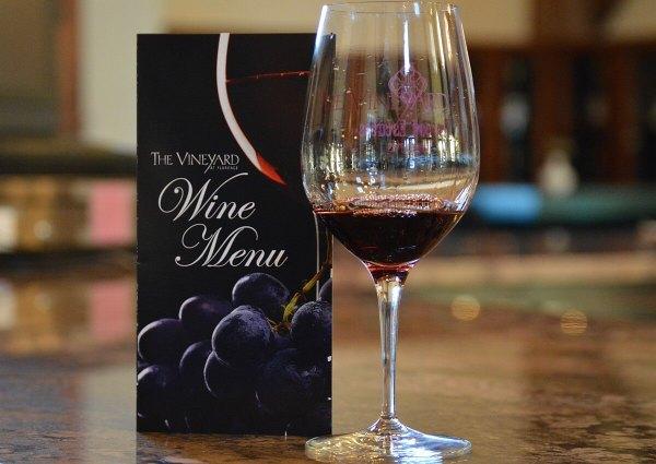 Vineyard at Florence wine menu
