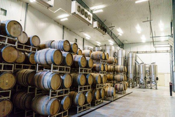 Duchman Family Winery barrels