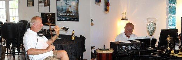 Gerry Math playing music