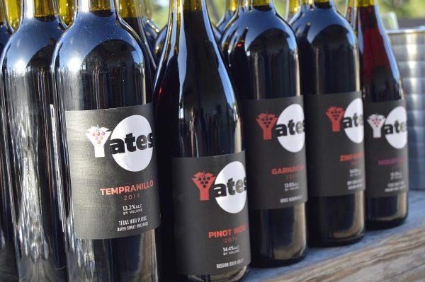 Yates red wines