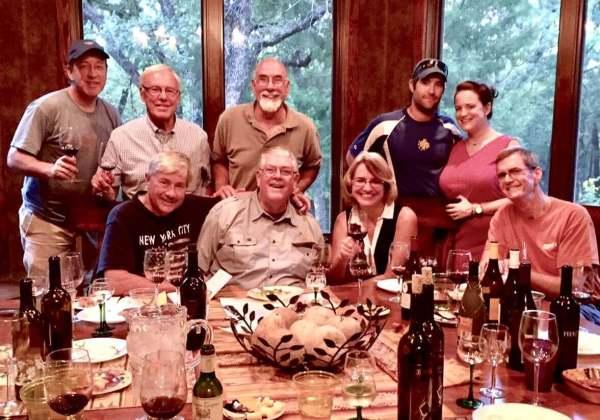 At Lost Oak L-R: (seated) Jim Evans, Carl Hudson, Laurie & Shelly Ware (standing) Tim Morris, Gene Estes, Bill Bledsoe, Josh & Kelly Cross