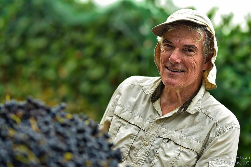 Harvesting Malbec brings a smile at William Chris Vineyards
