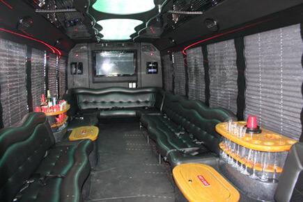 Black limo bus
