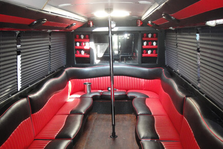 Red limo bus