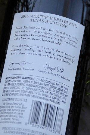 Llano Meritage label