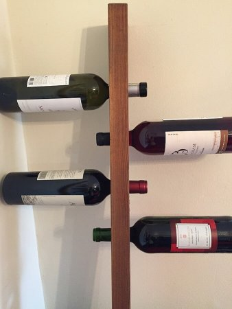 Loma Living wine rack with bottles