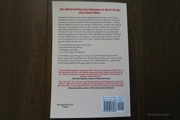 The Booklovers' Guide to Wine back cover