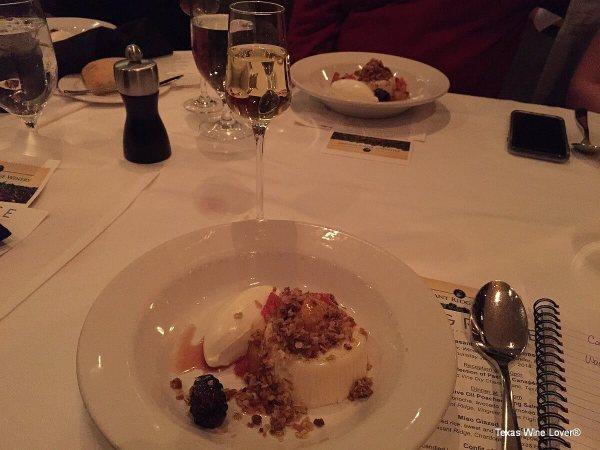 Pheasant Ridge wine dinner dessert