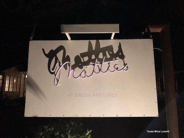 Texas Wine Growers Mattie's sign