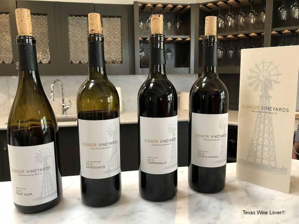 Signor Vineyards wines