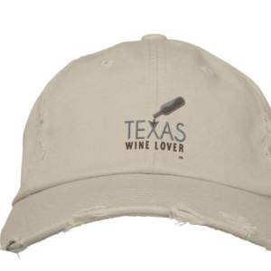 Texas Wine Lover Distressed Baseball Cap front