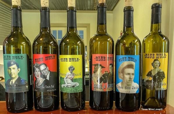 Blue Mule Winery wines