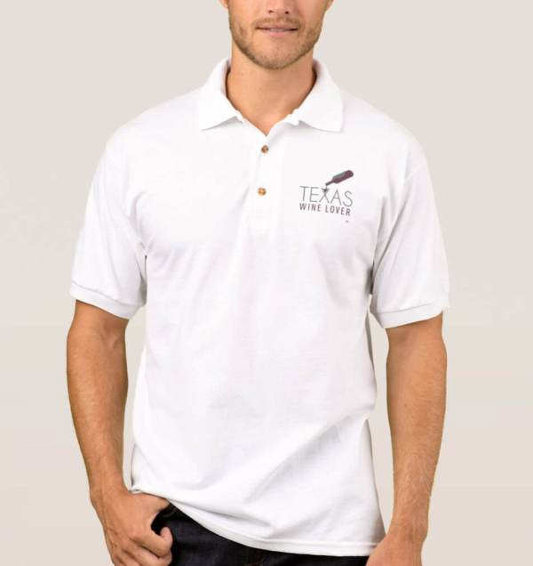 Texas Wine Lover Men's Polo Shirt front