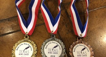 Texas Wine Lover Sangiovese medals