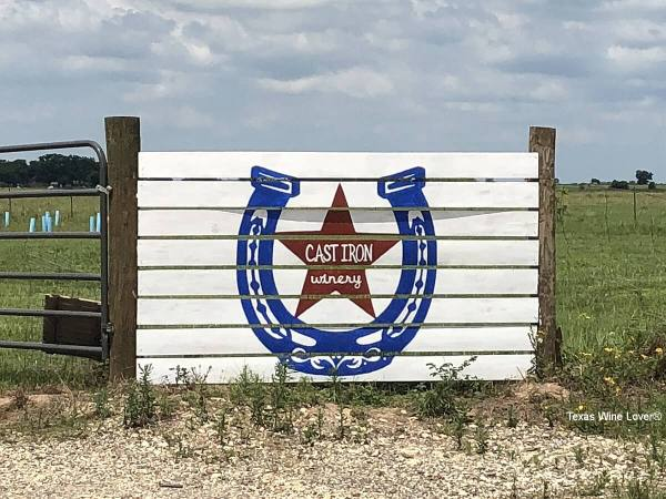 Cast Iron Winery sign