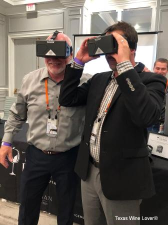 Virtual Reality at the Texas Fine Wine suite