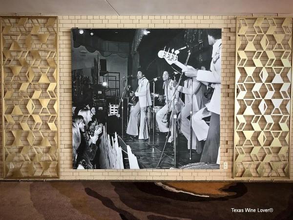 Photograph on wall at Statler