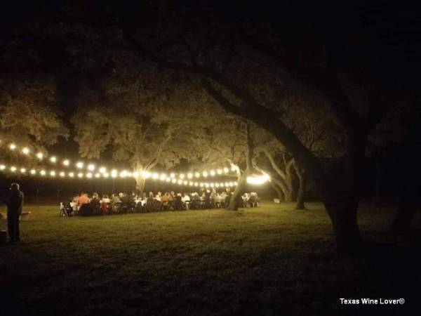 CALAIS Winery wine dinner under the trees