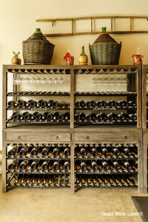 Cross Mountain Vineyards wine racks