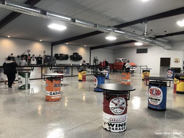 The Wine Garage tasting room