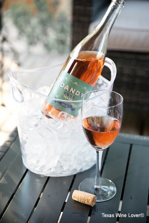 Dandy Rosé and glass