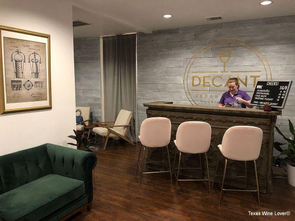 Decant Urban Winery tasting room