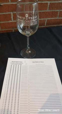 North Texas Wine Country Blind Tasting Competition wine glass