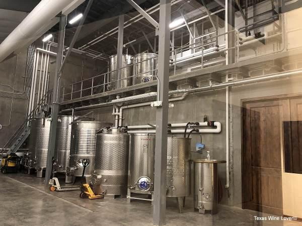 Valley Mills Vineyards stainless steel tanks
