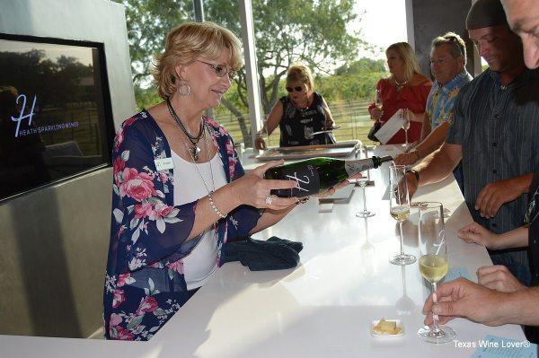 Heath Sparkling Wines doing a tasting