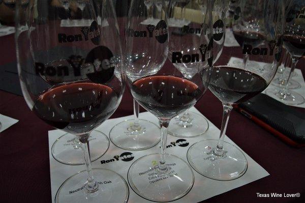 Ron Yates wine glasses set-up