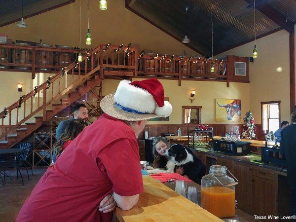 Longhorn Cellars inside tasting room