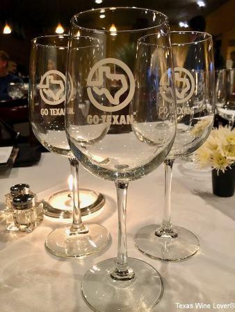Go Texan wine glasses