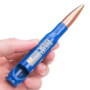 Merica Est. 1776 .50 Caliber Bullet Bottle Opener blue