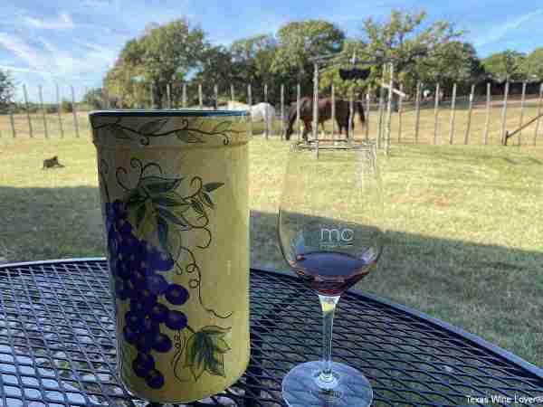 Marker Cellars wine glass
