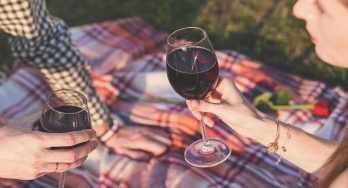 couple on picnic blanket