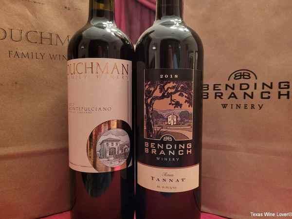 Duchman and Bending Branch wines